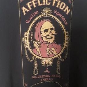 Affliction mens tshirt medium
